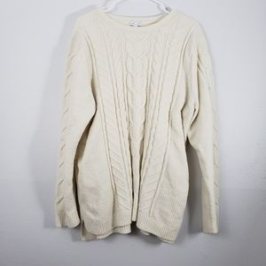 J. Jill Chenille Soft Cable Knit Sweater